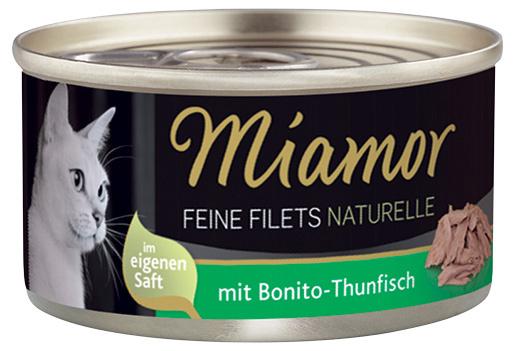 Konzerva MIAMOR Feine Filets Naturelle bonito-tuňák ve šťávě 80g