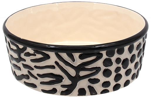 Miska DOG FANTASY keramická zebra 21,5cm 700ml