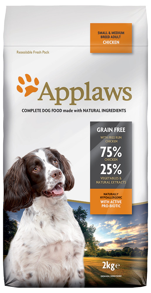 Krmivo Applaws Dry Dog Chicken Small & Medium Breed Adult 2kg
