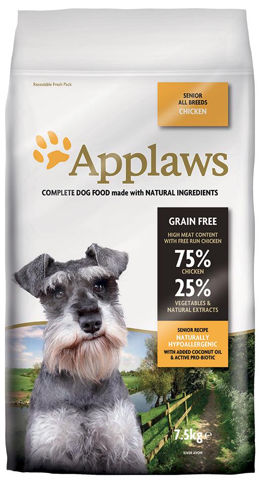 Krmivo Applaws Dry Dog Chicken Senior 7.5kg