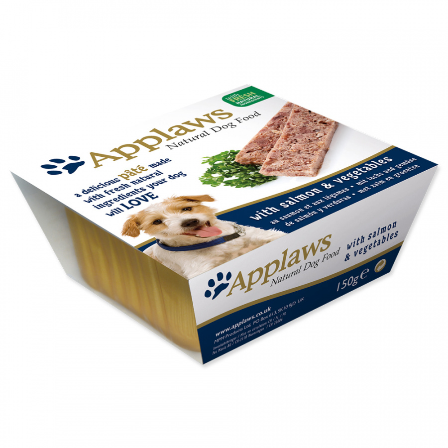 Paštika Applaws Dog losos & zelenina 150g