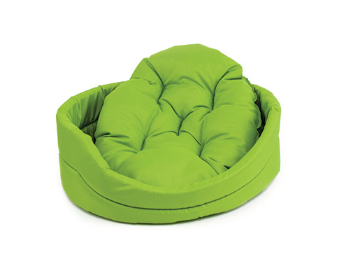 Pelech Dog Fantasy ovál s polštářem zelený 100cm
