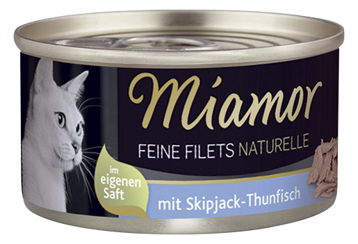 Konzerva MIAMOR Feine Filets Naturelle skipjack-tuňák ve šťávě 80g