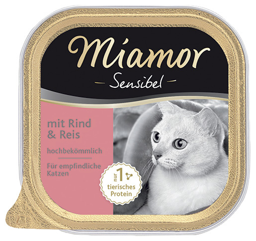 Vanička MIAMOR Sensibel hovězí + rýže 100g