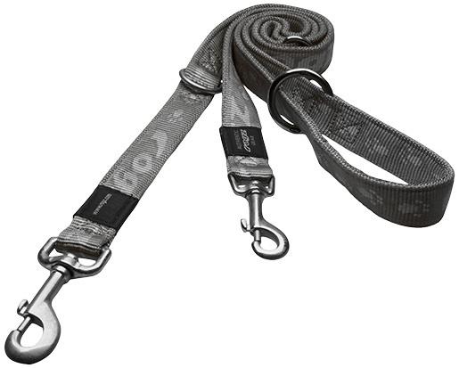 Vodítko ROGZ Alpinist přepínací stříbrné XL
