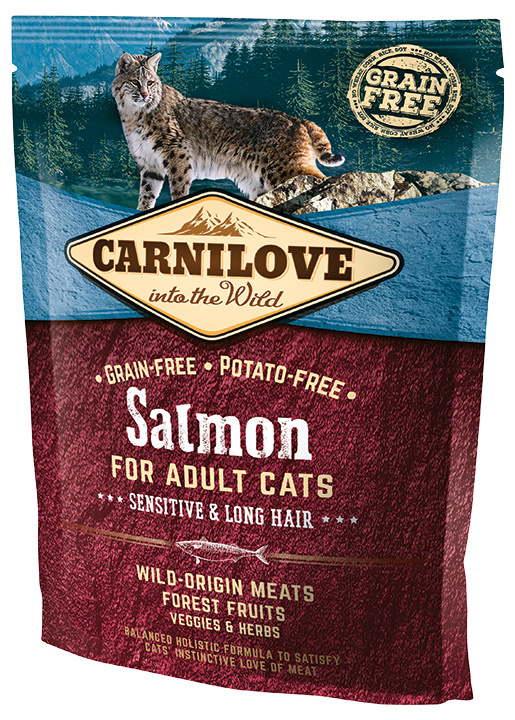 Carnilove Salmon Adult Cats – Sensitive and Long Hair 400g