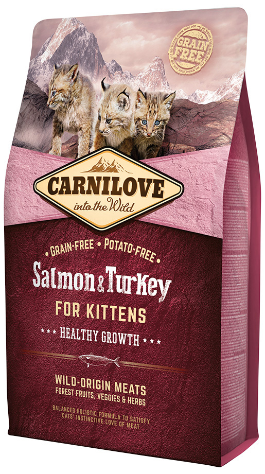 Carnilove Salmon and Turkey Kittens – Healthy Growth 2kg