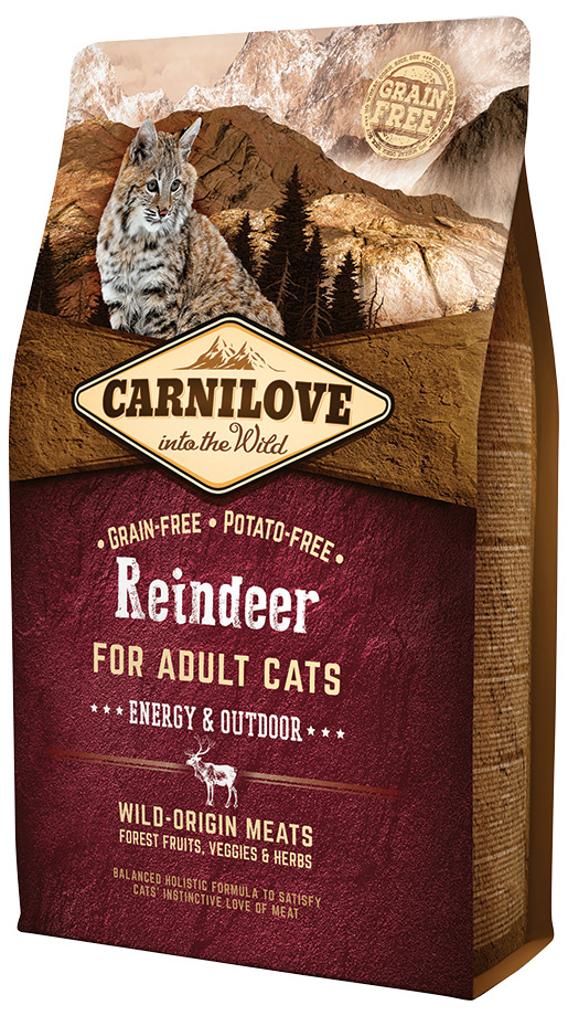 Carnilove Reindeer Adult Cats – Energy and Outdoor 2kg