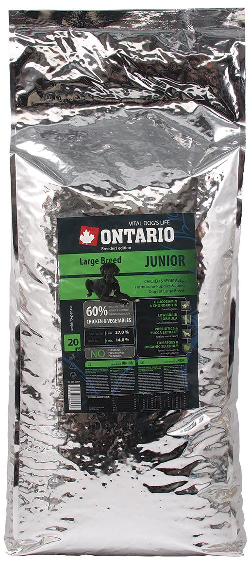 ONTARIO Junior Large Breed 20kg