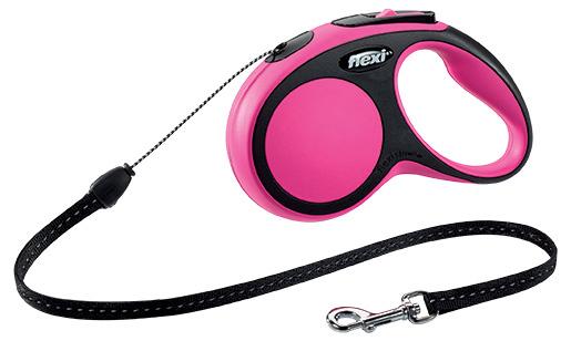 Vodítko Flexi New Comfort lanko S 5m růžové