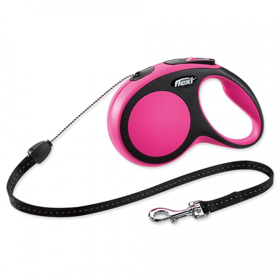 Vodítko Flexi New Comfort lanko S 8m růžové
