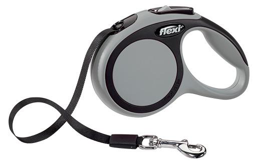 Vodítko Flexi New Comfort páska XS 3m šedé