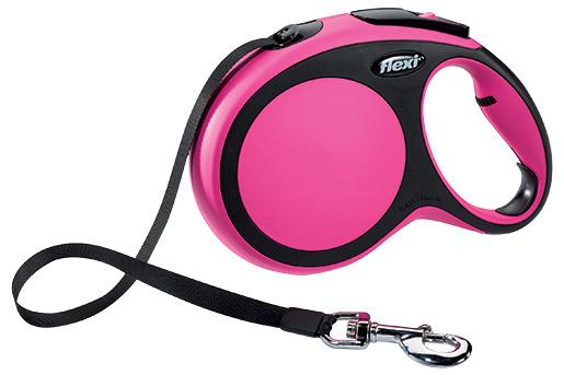 Vodítko Flexi New Comfort páska L 8m růžové