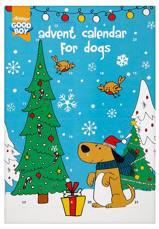 Kalendář adventní vánoční pro psy 72g