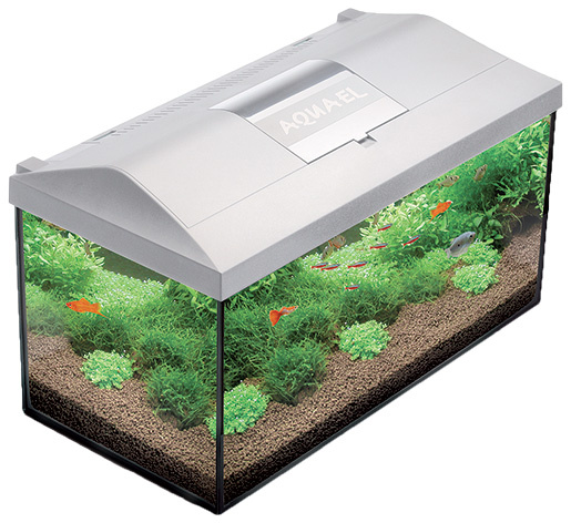 Akvárium set LEDDY 60x30x30cm, 54l bílé