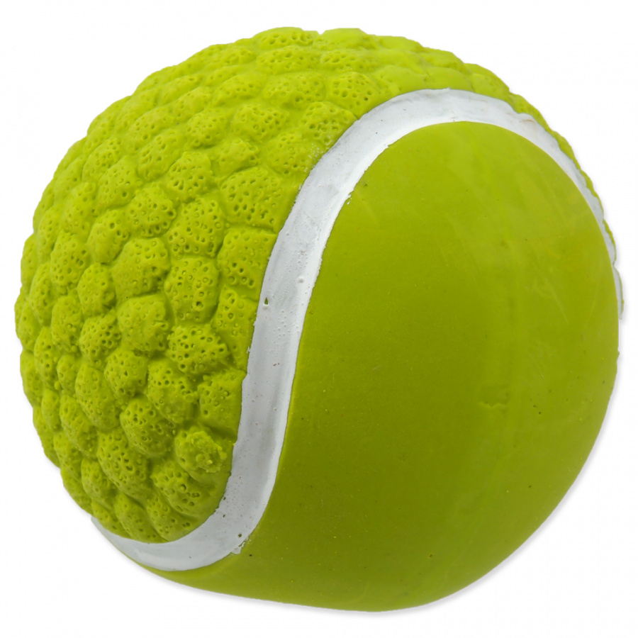 Hračka Dog Fantasy Latex Míč tenisový se zvukem 7,5cm
