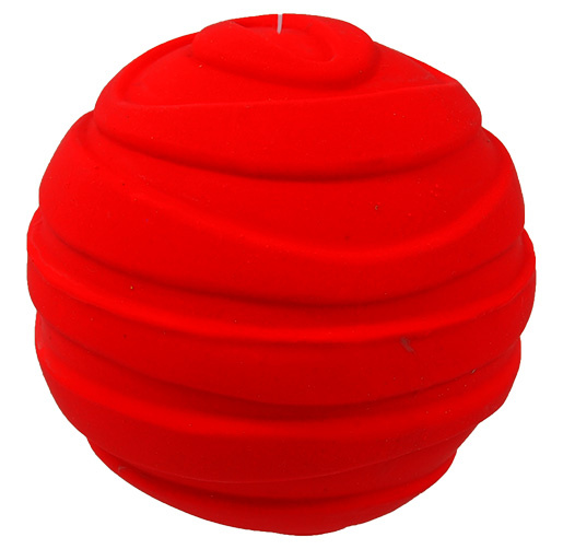 Hračka Dog Fantasy Latex Míč pruhovaný míč se zvukem 7,5cm