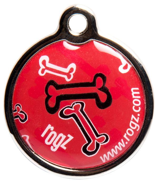 Známka ROGZ Metal Red Bone kovová S