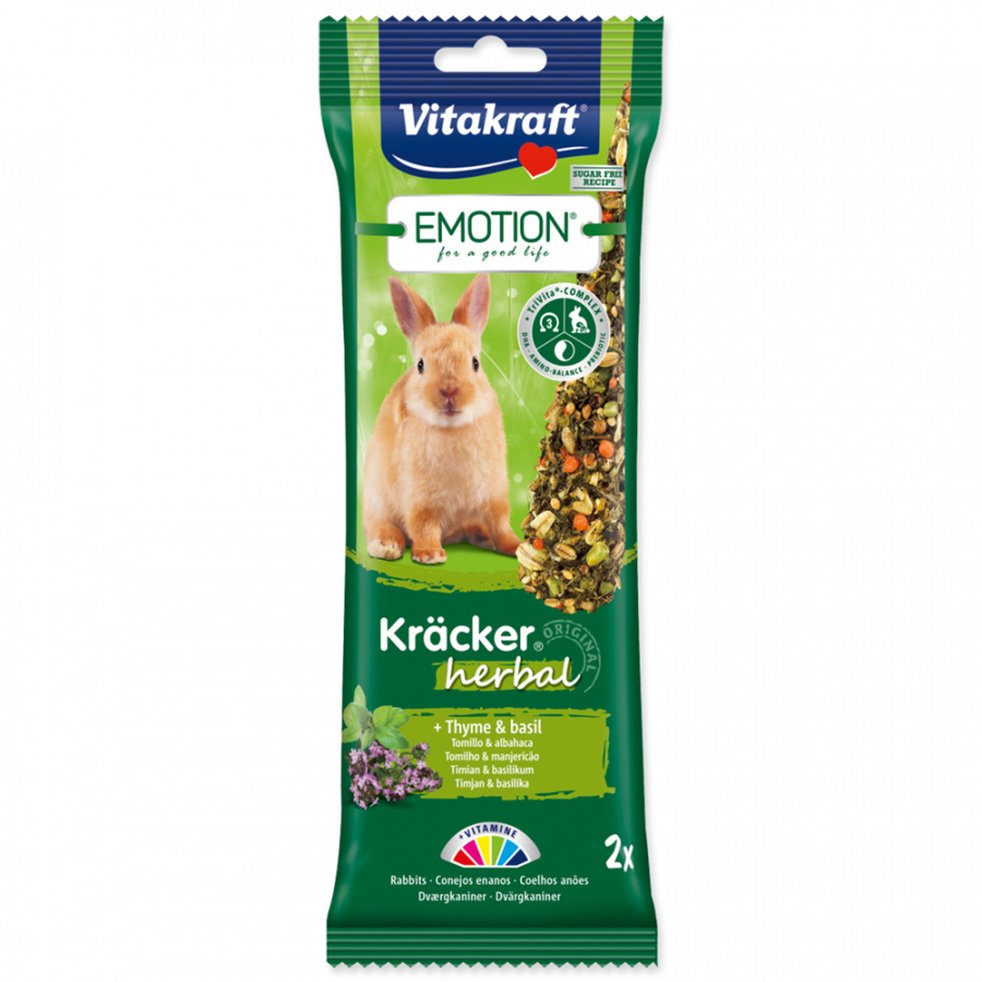 Tyčinky Vitakraft Emotion kracker králík herbal 2ks