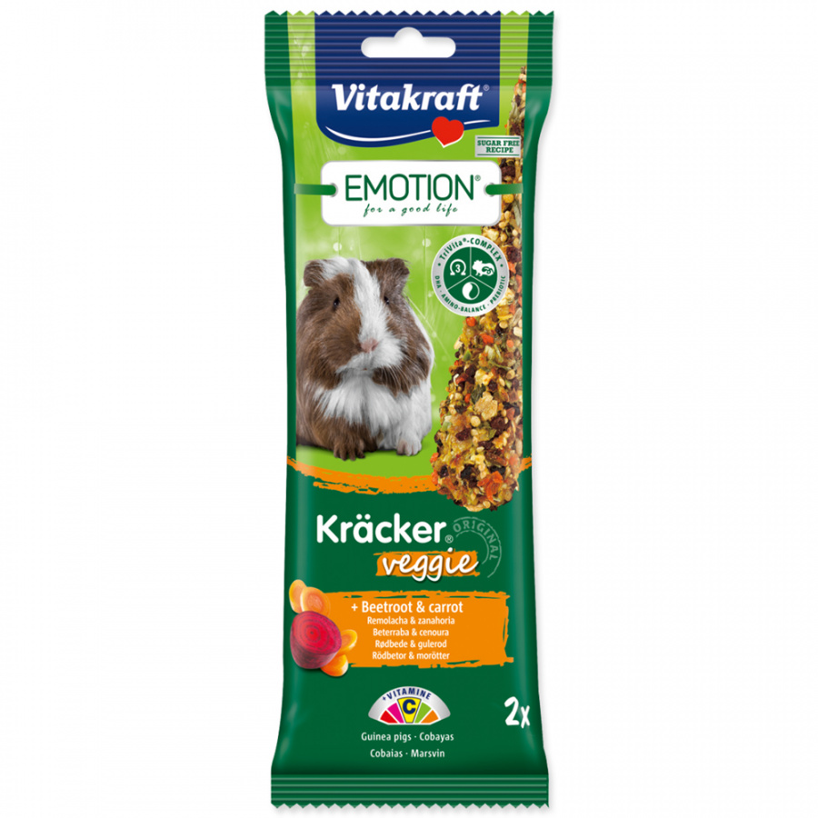 Vitakraft Emotion kracker morče veggie 2ks