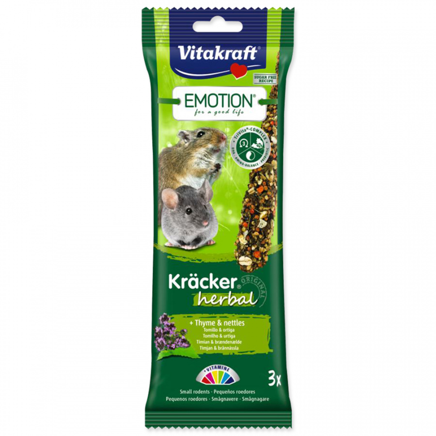 Tyčinky Vitakraft Emotion kracker herbal 3ks