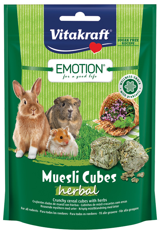Vitakraft Emotion muesli kostky herbal 80g
