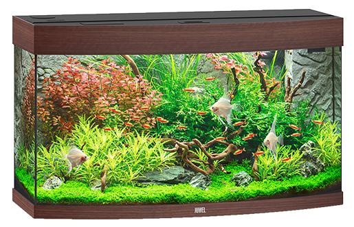 Akvárium set Vision LED 180 92x55x41cm tm. hnědé 180l