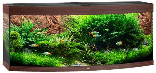 Akvárium set Vision LED 450 151x61x64cm tm.hnědé 450l