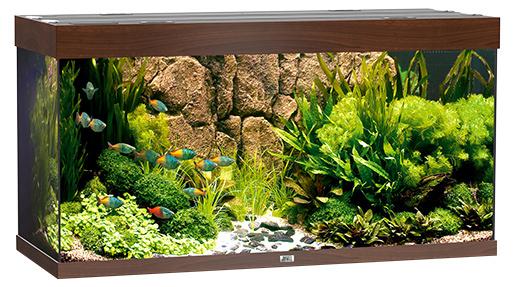 Akvárium set Rio LED 350 121x51x66cm 350l tmavě hnědé