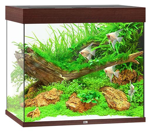 Akvárium set Lido LED 200 tm.hnědé 70x51x65cm 200l