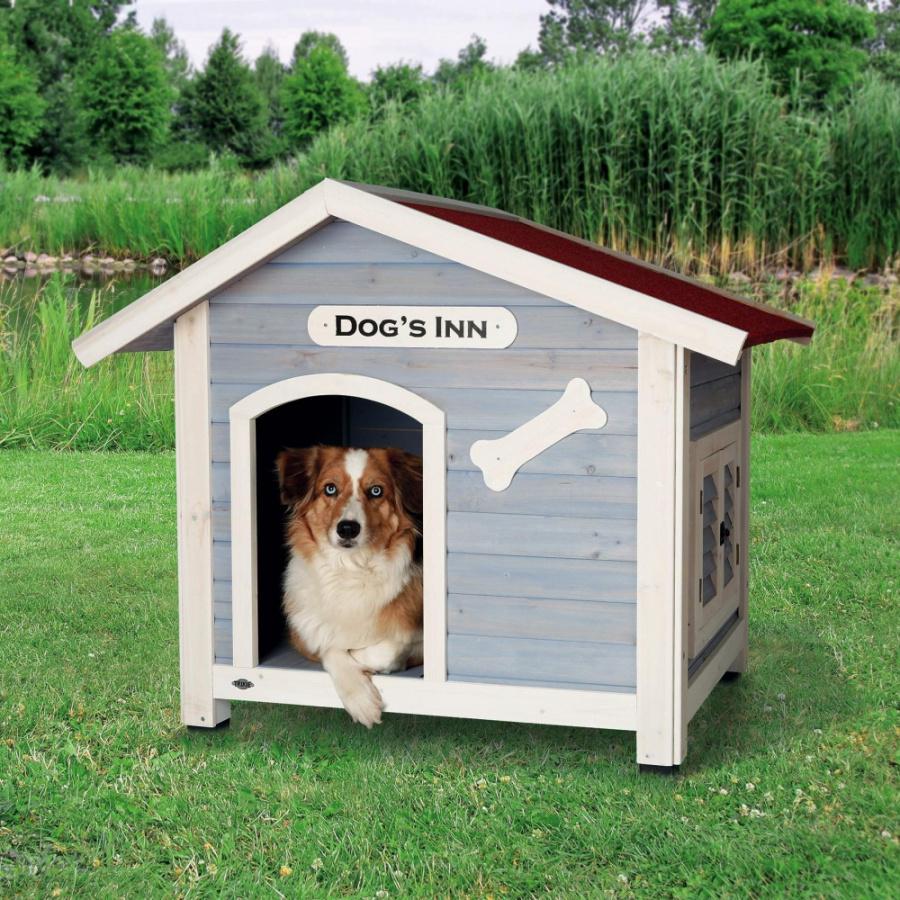 Bouda Trixie DOGS INN 107×93×90cm světle modrá-bílá