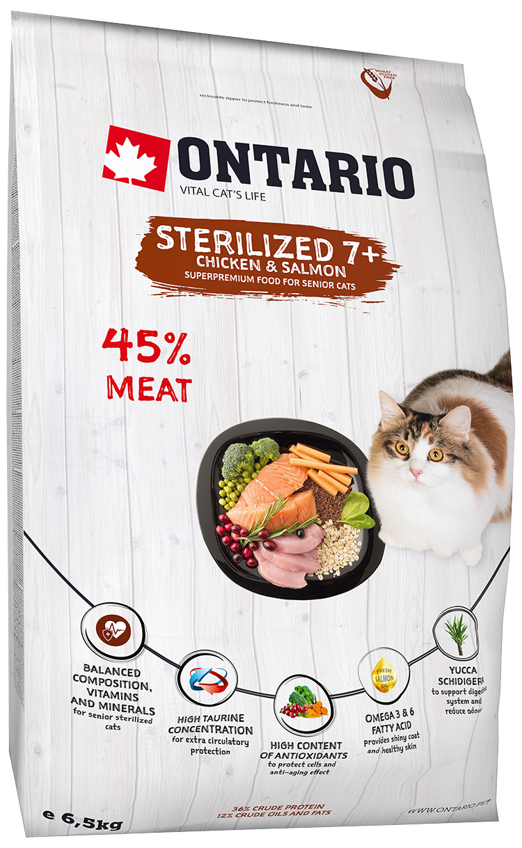 Ontario Cat Sterilised 7 6,5kg