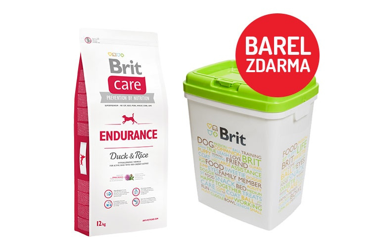 Brit Care Endurance 12kg  barel ZDARMA