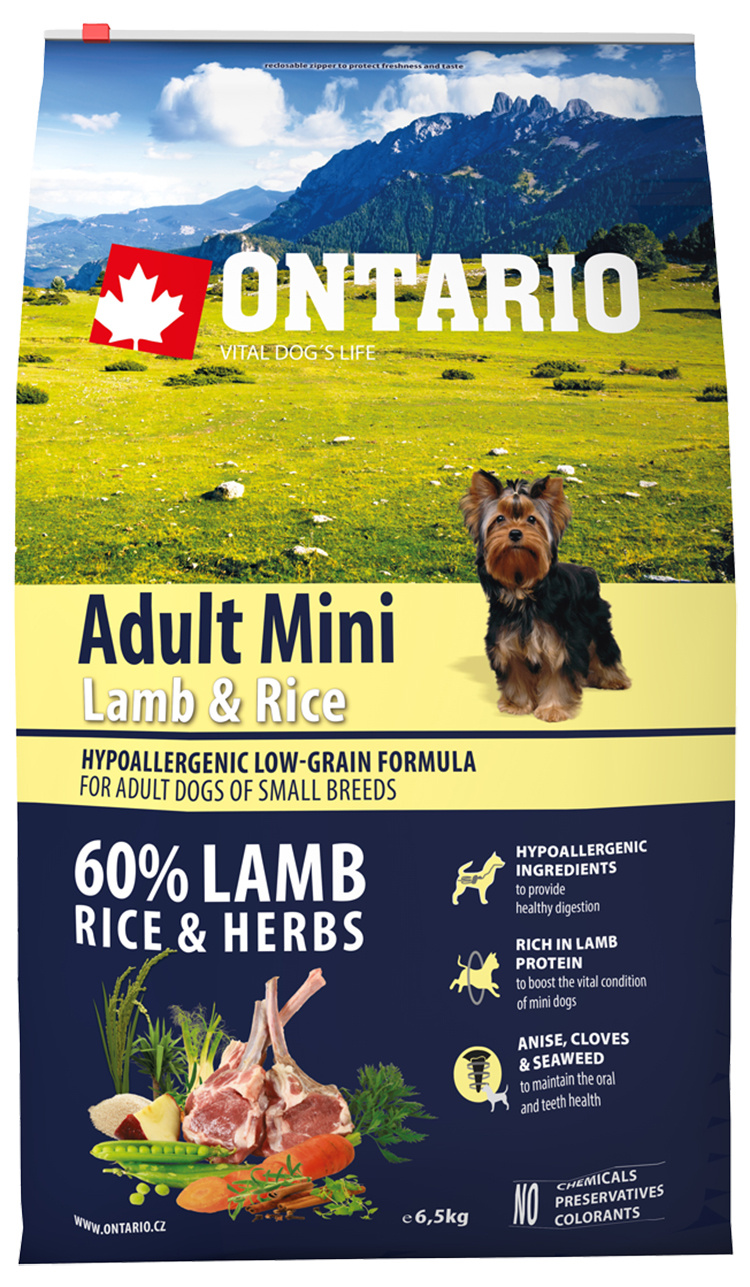 Ontario Adult Mini Lamb  Rice 6.5kg