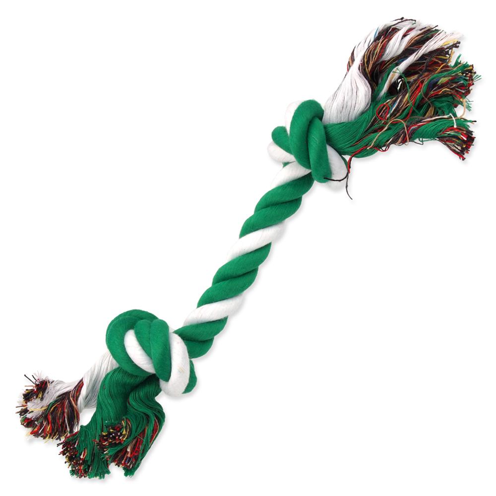 Uzel DOG FANTASY bavlněný zeleno-bílý 2 knoty 30 cm