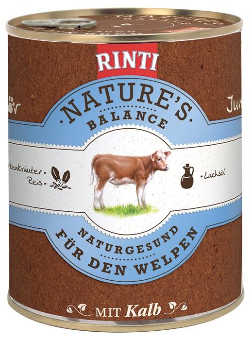 Konzerva RINTI Nature's Balance telecí + těstoviny + vejce 800g