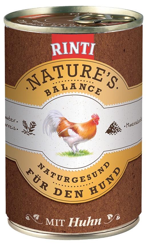 Konzerva RINTI Nature's Balance kuře + hnědá rýže + vejce 400g