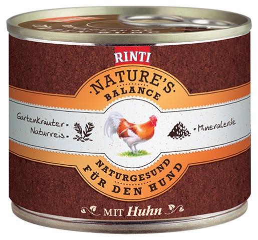 Konzerva RINTI Nature's Balance kuře + hnědá rýže + vejce 185g