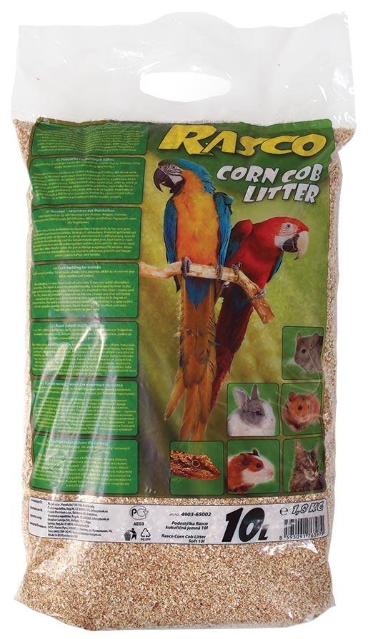 Podestýlka RASCO kukuřičná jemná 10l