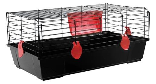 Klec SMALL ANIMAL Ludvík černá s červenou výbavou