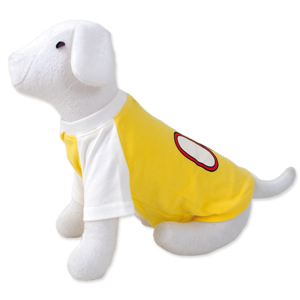 Triko DOG FANTASY sport 08 žluté XS