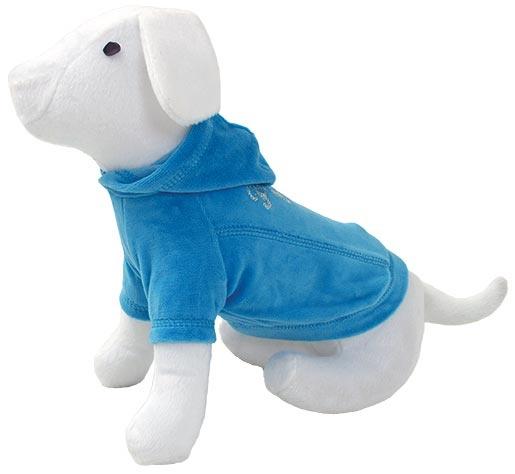 Triko DOG FANTASY s kapucí modré 50cm