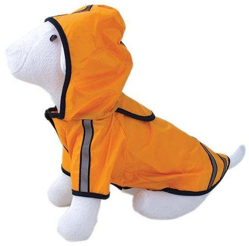 Pláštěnka DOG FANTASY reflexní žlutá 50cm