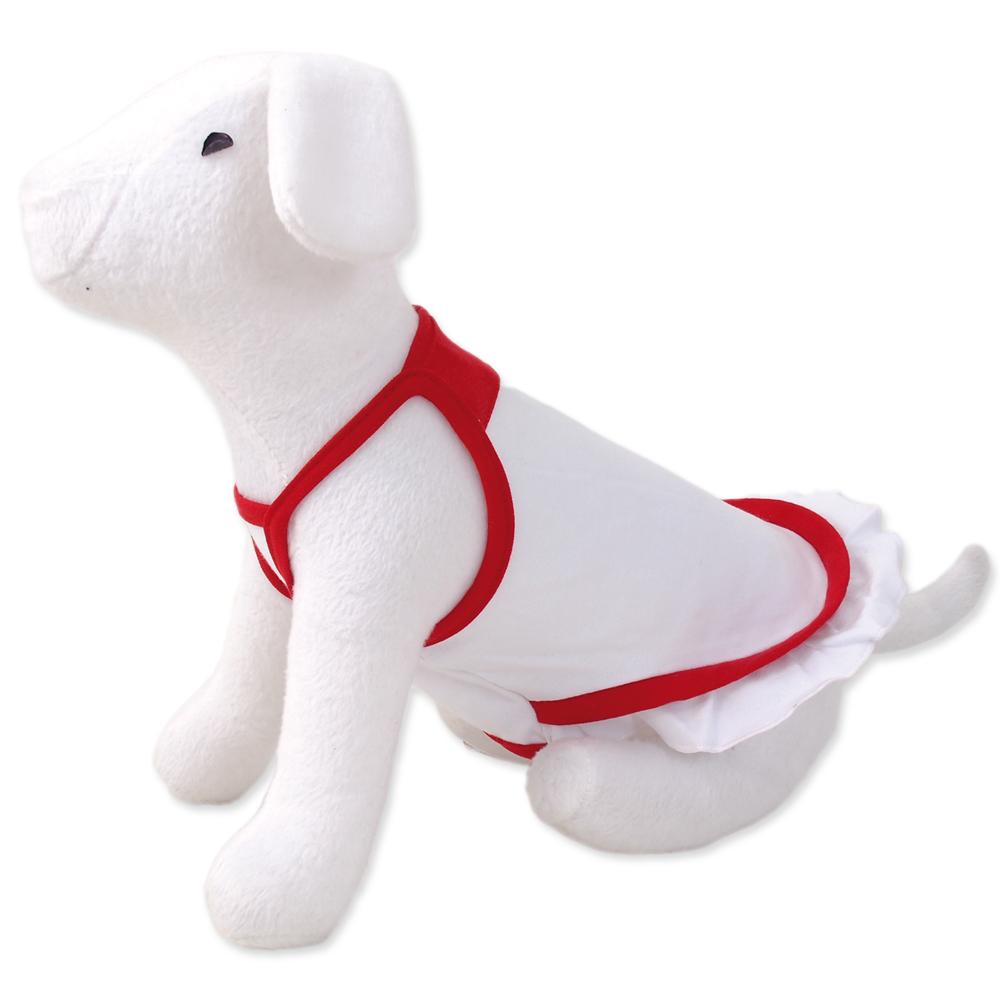 Šaty DOG FANTASY summer bílo-červené XS