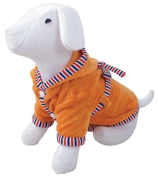 Župan DOG FANTASY s kapucí oranžový L