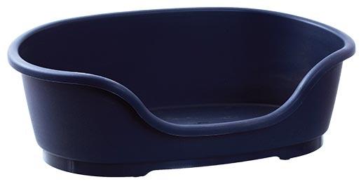 Pelíšek DOG FANTASY plastový tmavě modrý 49cm