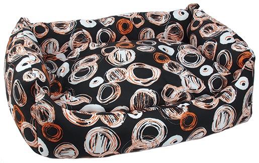 Sofa DOG FANTASY voděodolné Kroužky černo-béžové 80 cm