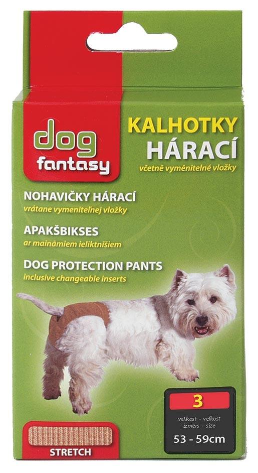 Kalhotky DOG FANTASY hárací béžové XL