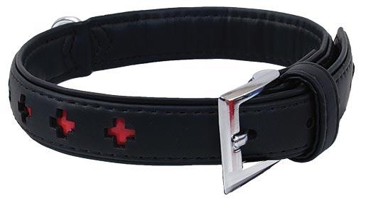 Obojek DOG FANTASY Design zdobený černý 27cm