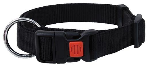 Obojek DOG FANTASY černý 30 - 45 cm